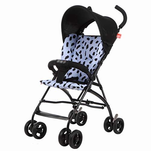 LQW HOME-Passeggini Passeggino Ammortizzatore Leggero per Una Facile Chiusura di sedili reclinabili...