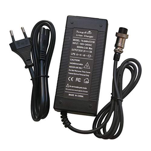 TangsFire 67.2V 1.5A Caricatore Ebike per 60V 16S 57.6V 59.2V 64V Batteria agli ioni di Litio 3-Pin...