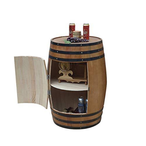 CAOYUYMX Whisky Barrel Cantinetta in Legno di Rovere, Contenitore per la conservazione dei Bar Botte...