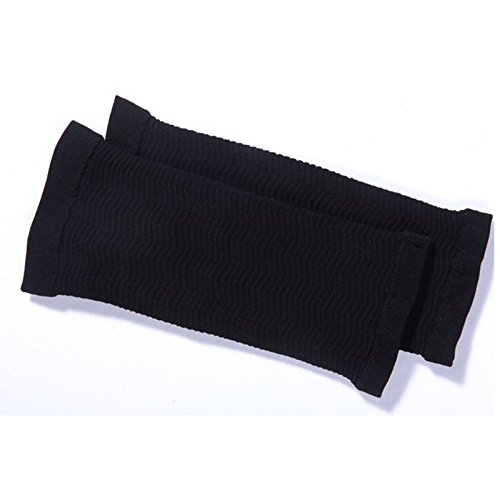 Leoie Elastic Compression Arm Sleeves Women Weight Loss Calories Slimming Arm Shaper Short Sleeves for Women Girls Black