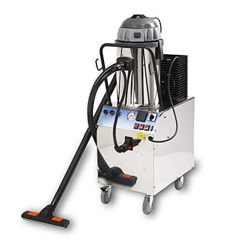 EOLO MOTOR VAPOR LP07 RA sistema de limpieza profesional multifunción_ Aspiradora, aspiración líquidos y solidos con generador profesional de vapor a recarga automatica y chorro de agua / detergente para pretratamiento.