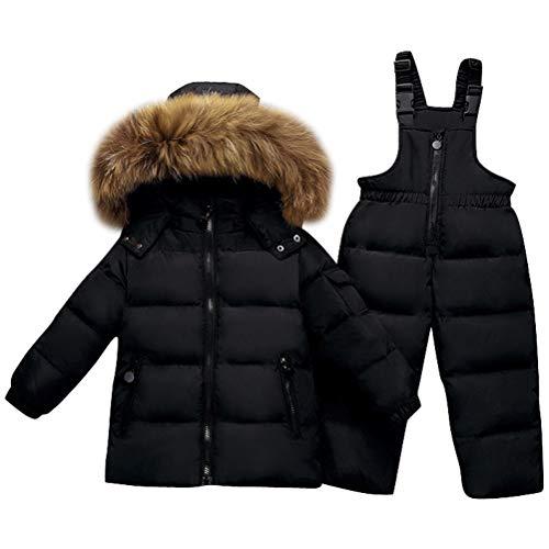 Odziezet Snowsuit da Unisex Bambini Tuta da Sci Piumino Trapuntato + Salopette 2 Pezzi Tutone...