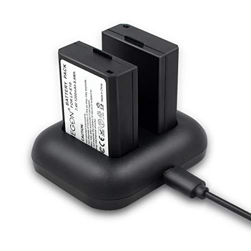 ENEGON Batteria di sostituzione (2 pacchetti) e caricatore rapido doppio per Canon LP-E10 e Canon...