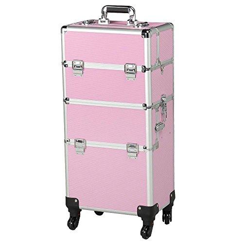 Yahee365 Valigetta/Trolley Trucchi Telaio in Alluminio Beauty Case Make Up da Viaggio per Estetista...