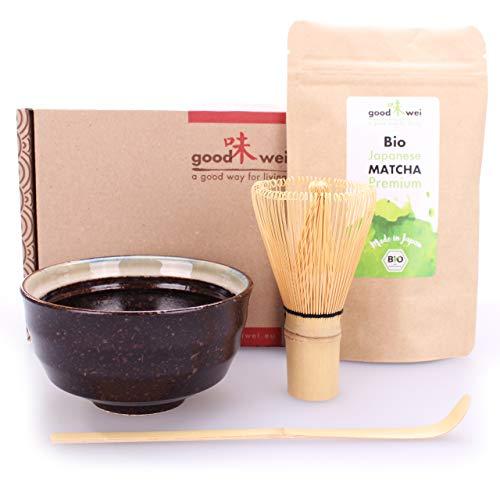 Goodwei Matcha Tee Starter-Set mit japanischem Bio Matcha (Kumo)