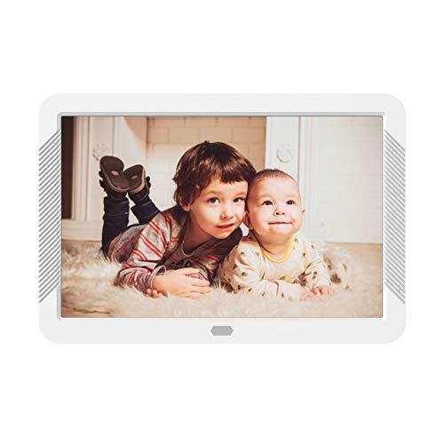 Digitaler Bilderrahmen 8 Zoll mit 32 GB SD Karte NAPATEK Digitaler Fotorahmen 1920x1080 Hochauflösender 16:9 FHD IPS-Bildschirm Bildvorschau Videokalender Uhr Auto EIN/Aus Timer Fernbedienung