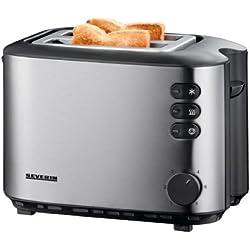 Severin AT 2514 Automatik-Toaster (850 Watt, Brötchenaufsatz) edelstahl