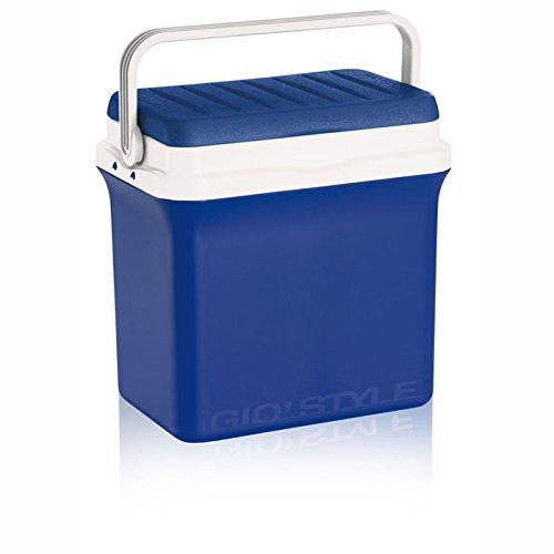 Borsa termica azzurra rigida frigorifero portabile per cibi e bevande Contenitore 22,5 litri...