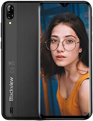 Blackview A60 (2019) Smartphone ohne Vertrag Günstig 6,1 Zoll Wassertropfen Bildschirm 4080mAh Akku, 13MP+5MP Dual Kamera 16GB ROM, 128 GB erweiterbar Dual SIM Android 8.1 (Go Edition)Handy-Schwarz