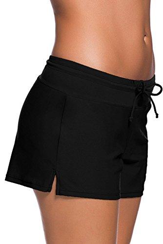 Boldgal Women's Bathing Costume Swim Shorts (Black) 6