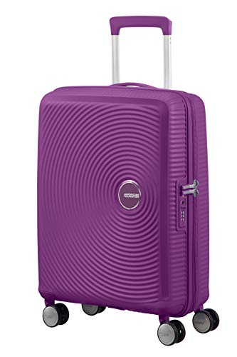 American Tourister Soundbox Spinner Small Expandable Bagaglio A Mano, 55 cm, 41 Liters, Viola...