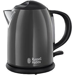 Russell Hobbs Colours Plus 20192-70 Storm Kompakt Wasserkocher, 2200 W, 1 l, Sicherheitsdeckel, kabellos, grau