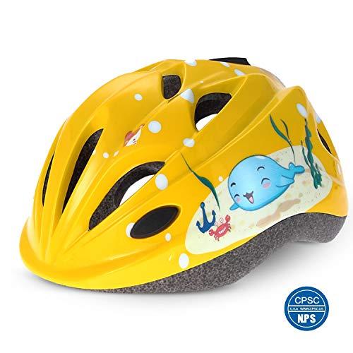 Odoland Casco per Bambini, Casco per Bici per Bambini, Caschi Bici per Bambini Regolabile e...