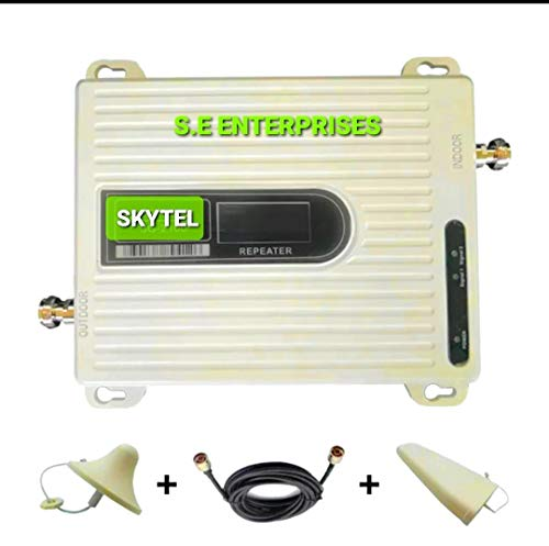 S E Enterprises High Gain JIO, 3G and 4G Mobile Network Triband Antenna Kit - Cover up to 2500 sq Feet