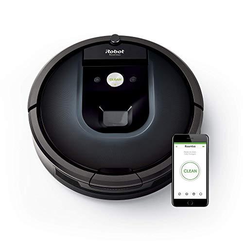 iRobot Roomba 981 Robot aspirapolvere WiFi, Power-Lifting, due spazzole in gomma multi-superficie, Adatto per chi ha animali domestici, Tecnologia Dirt Detect, pulizia a 3 fasi, programmabile con app