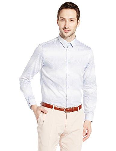 Arrow Newyork Men's Slim Fit Formal Shirt (Asty1051_Medium Blue_40)