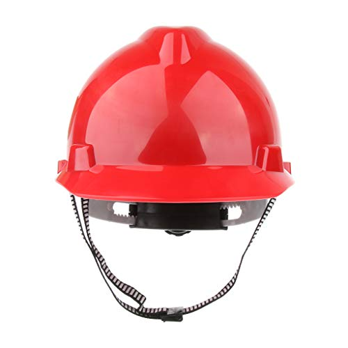 D DOLITY Casco De Seguridad De Silvicultura Herramientas Eléctricas Suministros de Trabajo Fabril - rojo