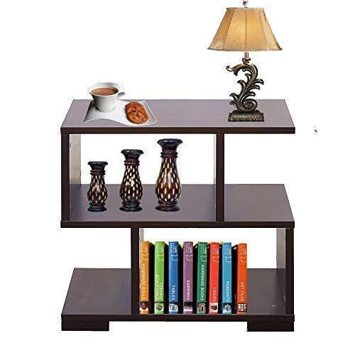 AAROORA Bedside End Table Home Bedroom & Living Room Multipurpose Storage Engineered Wood Bedside Table (Wenge Finish)