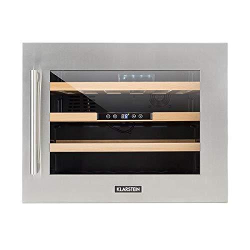 KLARSTEIN Vinsider 24D OneSide Edition - Cantinetta Vino, Cantinetta ad Incasso, 3 Mensole in Legno,...
