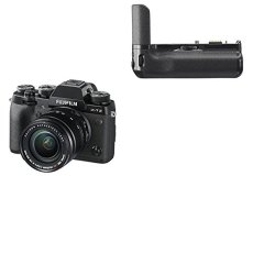 "Fujifilm X-T2 - Cámara sin espejo de 24,3 MP (pantalla LCD de 3"", APS-C""X-Trans CMOS III"", 100-51200, WiFi, video 4K), negro - kit con cuerpo y objetivo XF18-55mm F2.8-4 R LM OIS + Fujifilm VPB-XT2 - Empuñadura vertical, negro"