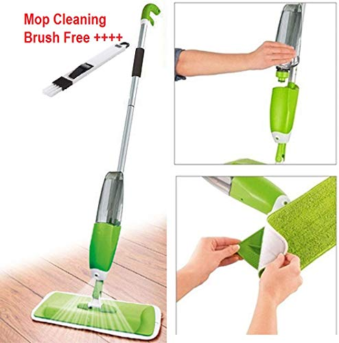 Zonku Stainless Steel Microfiber Floor Cleaning Spray Mop with Removable Washable Cleaning Pad and Integrated Water Spray Mechanism, mop for Cleaning Floor, 360 Degree Floor Cleaning Mops (Multi)