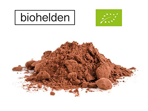 Biohelden Kakao Pulver 1kg stark entölt Reines Kakaopulver 1000g - Ohne Gentechnik Vegan Vegetarisch und Glutenfrei