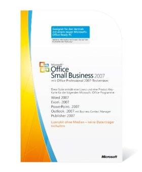 Microsoft Office Small Business 2007 deutsch (Lizenz-Key) [Import allemand]