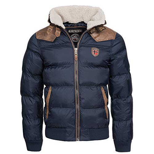 Geographical Norway -  Giacca - Parka - Uomo Blu Navy XX-Large