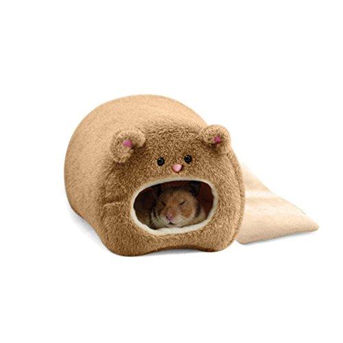 Pixnor Ratti criceto inverno caldo pile appeso gabbia amaca simpatico orso House con letto Mat per...