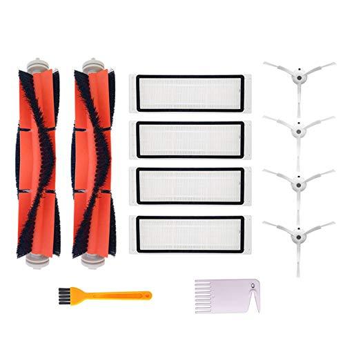 Kit di Accessori per Xiaomi Aspirapolvere, 4 Spazzole Laterali, 4 Filtri HEPA, 2 Spazzola Centrale,...