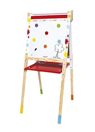 Janod giocattoli di legno-lavagna magnetica e Lavagna Splash, stelo regolabile in altezza,...