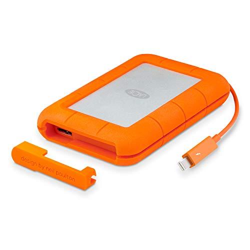 LaCie Rugged Thunderbolt, Unità disco esterno, USB 3.0, Arancione/Grigio, 2 TB