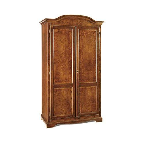 InHouse srls Armadio 2 ante, arte povera, in legno massello e mdf con rifinitura in noce lucido -...