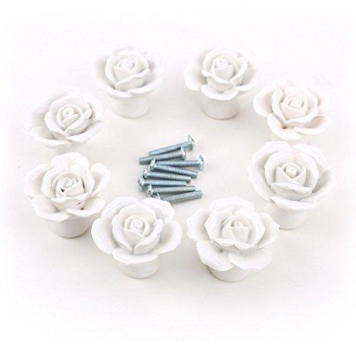 Foxom novità ceramica floreale rose maniglia porta manopole cassetto ...