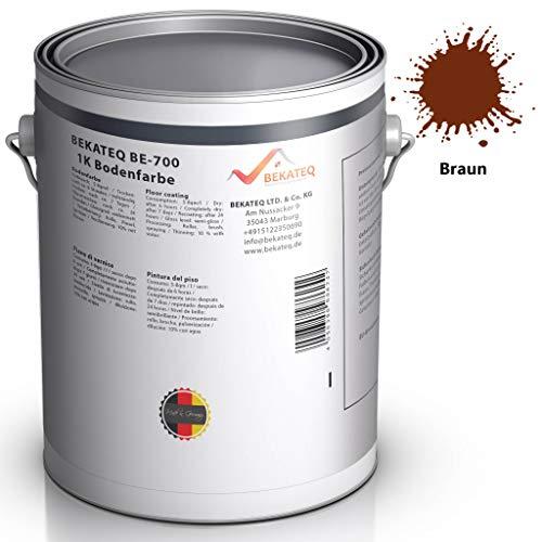 BEKATEQ BE-700 Bodenbeschichtung, 1l Braun, Betonfarbe seidenmatt, für innen und außen