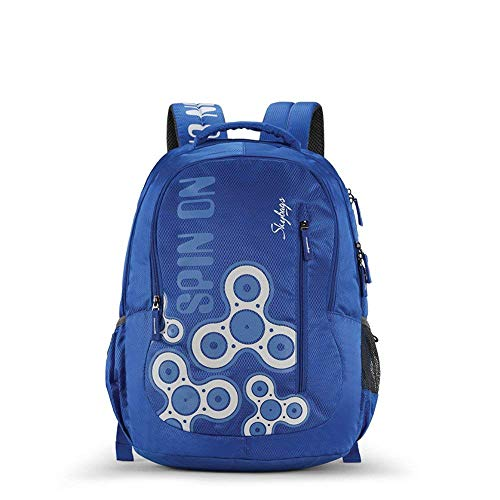 Skybags New Neon Polyester 1850 cm Blue Spacious School Backpack-32 Litres 1