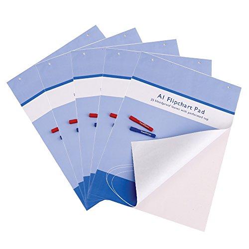 VIZ-PRO - Blocco di fogli di carta per lavagna magnetica, formato A1, 25 fogli, confezione da 5
