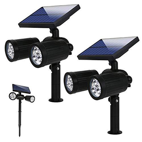 Lampade Solari a led da Esterno 300 LM,Illuminazione Giardino solare,6 led Luci Solari da Esterno...
