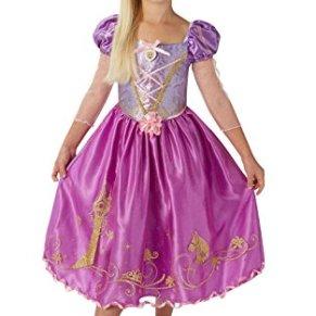Princesas Disney - Disfraz de Rapunzel Deluxe para niña, infantil 7-8 años (Rubie's 620490-L)