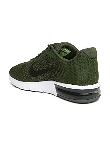 3f8e02a163cc7 Nike Men s Air Max Sequent 2 Olive Green Running Shoes - surplusxstock
