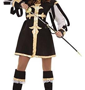 Juguetes Fantasia - Disfraz mosquetera negra adulto