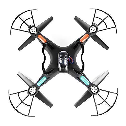 TLgf Drone, Fotocamera 720P FPV droni Live Video, modalità Headless Un Pulsante di Ritorno 6AXIS GYRO LED RTF Nero Telecomando Aereo Modello Drone