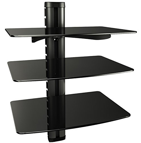 RICOO Scaffale pensile TV scansia Supporto da Parete Design Supporto DVD-3XL Porta in Vetro scaffale...