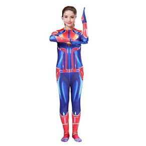 Traje SuperSkin Capitán Adulto Mujeres Segunda piel de las mujeres Onesie Ropa equipo de Halloween traje de Película Del Partido AMIMES (Color : Blue, Size : Adult-XXXL/180cm)