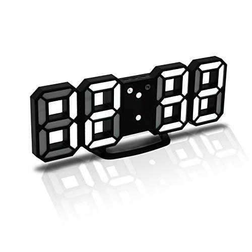 JCH 3D LED Digital Alarm Clock, Orologio da Parete, Orologio Digitale, Timorn 3D LED Alarm Clock con...