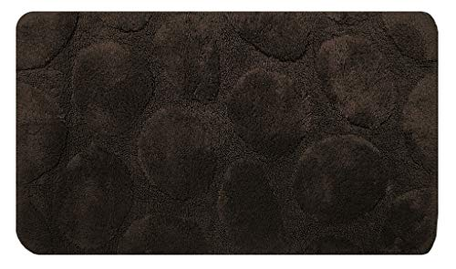 Pezzoli Tappeto Bagno Stones - Cotton Ring 1800g/mq - Made in Italy (Marrone, 60 x 110)