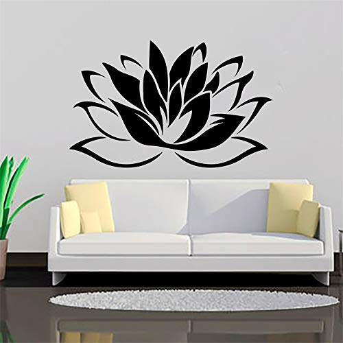 yiyiyaya I più Venduti Buddismo Lotus Wall Stickers Soggiorno Rimovibile Arte Vinyl Wall Decor...