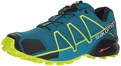 Salomon Speedcross 4, Zapatillas de Running para Hombre, Varios Colores (Deep Lagoon/Acid Lime/Reflecting Po 000), 46 2/3 EU