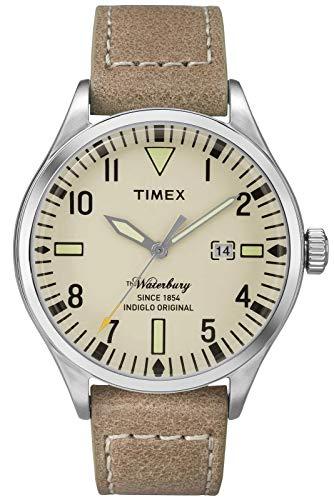 Timex Herren Analog Quarz Uhr mit Leder Armband TW2P83900