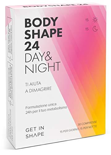 BODYSHAPE 24 Day & Night - Brucia grassi e aiuta a perdere peso con tè verde, caffè verde, curcuma ecc. - compresse dimagranti forti da Get In Shape